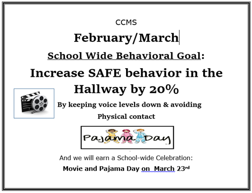 Feb March 2018 Behavioral Goal Poster