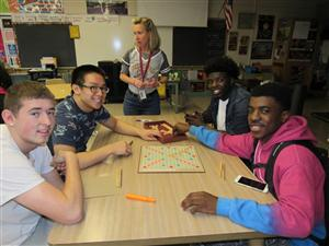 students playing scrabble